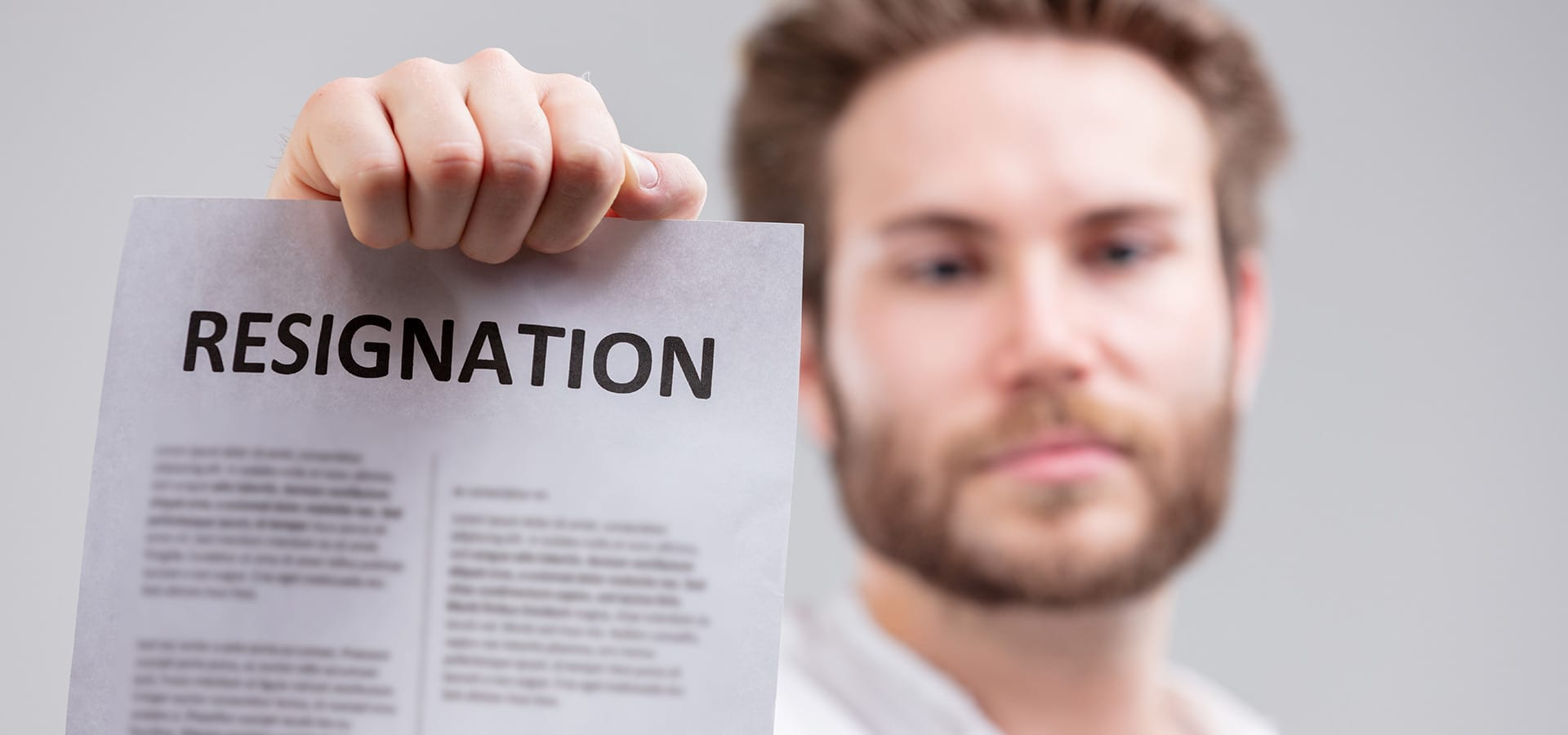 Turning in a resignation letter